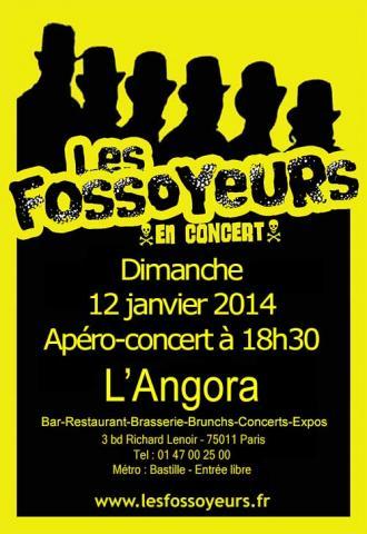 les fossoyeurs en concert à l'Angora