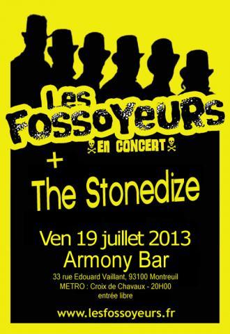 les fossoyeurs en concert à l'Armony bar à Montreuil