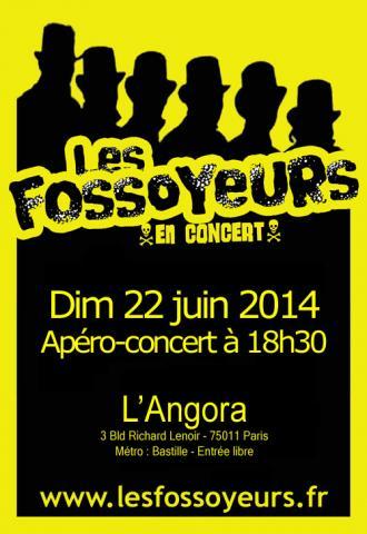 les fossoyeurs en concert à l'Angora Bastille